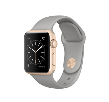 Apple Watch 2 38mm Gold Aluminum Case with Concrete Sport Band