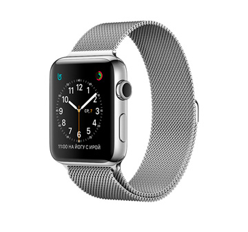 Apple Watch 2 42mm Stainless Steel Case with Milanese Loop