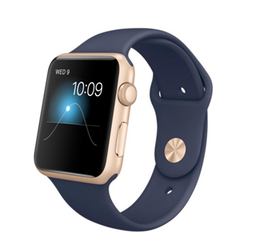 Apple Watch Sport 42 mm Gold with Sport Band Blue