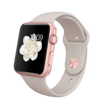 Apple Watch Sport 42 mm Rose Gold with Sport Band Stone