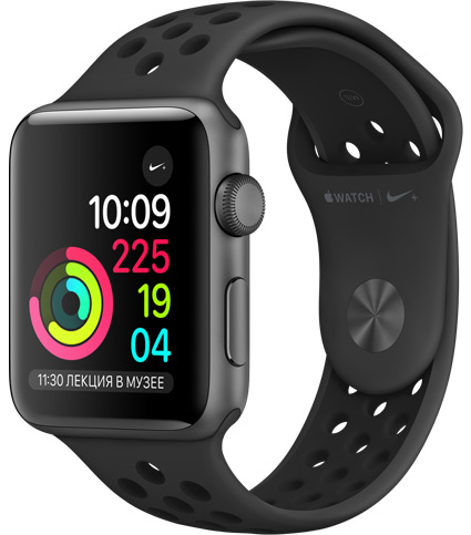 Apple Watch Series 3 Nike+ 42мм серый космос