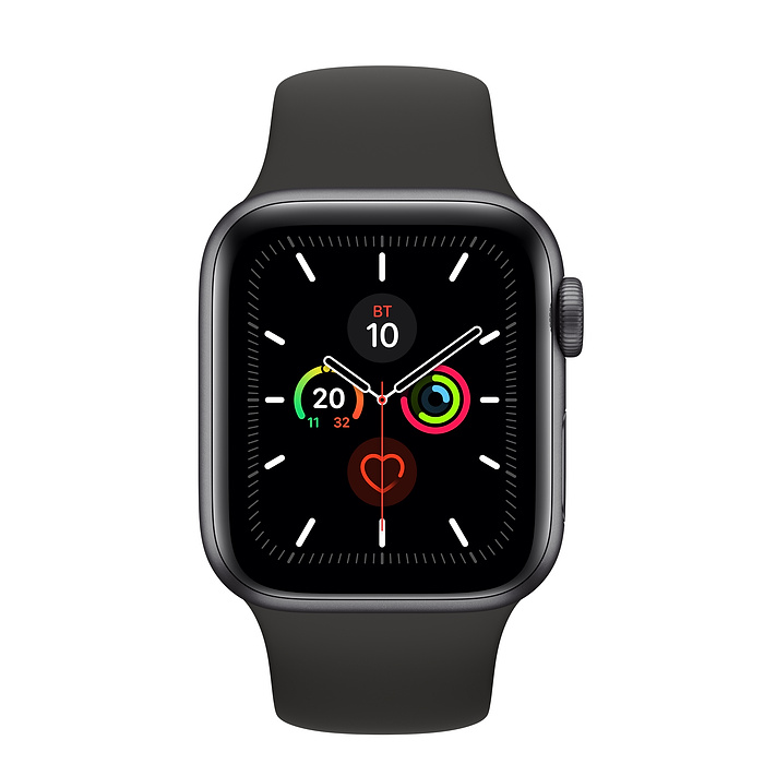 Apple Watch Series 5 44мм Space Gray Aluminum Case with Sport Band