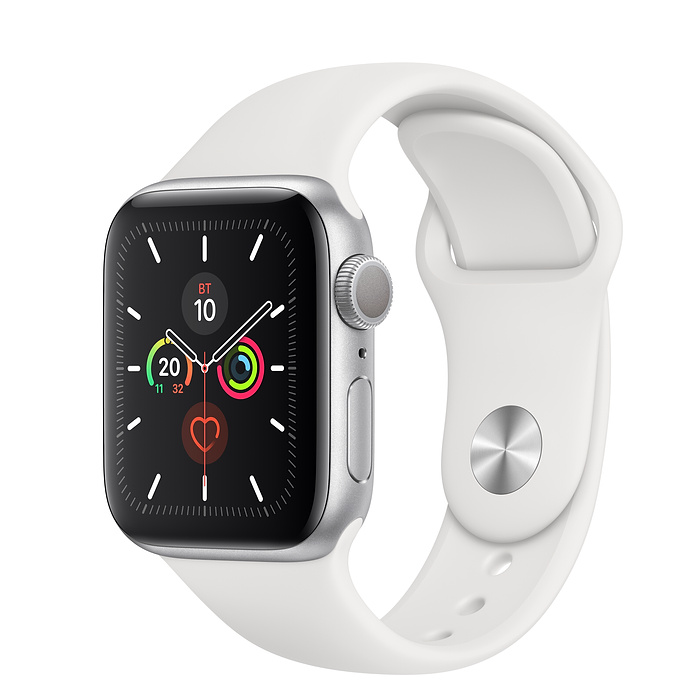 Apple Watch Series 5 40мм Silver Aluminum Case with Sport Band