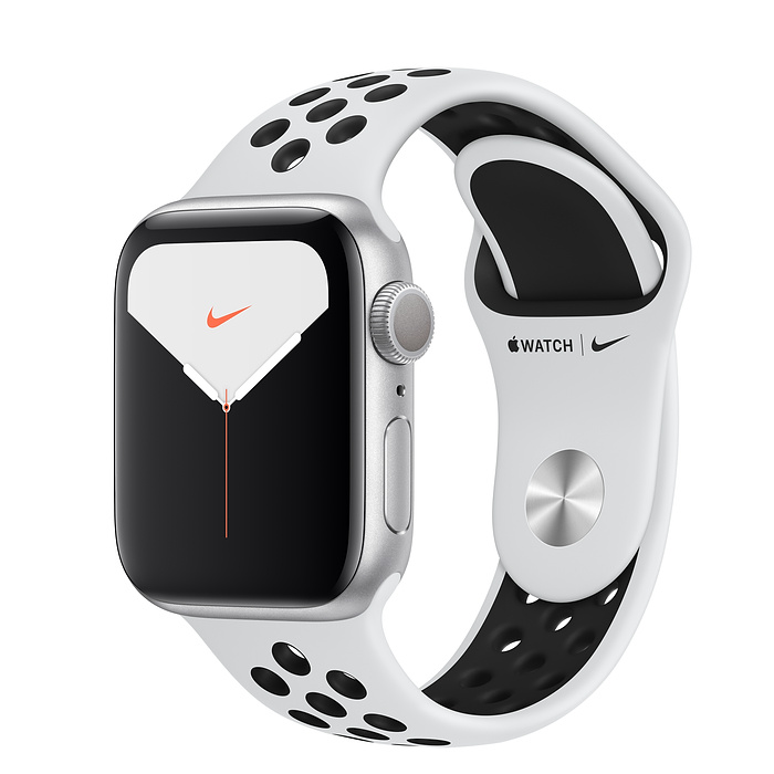 Apple Watch Series 5 44мм Silver Aluminum Case with Nike Sport Band