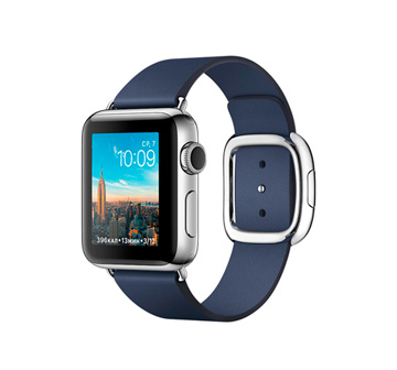 Apple Watch 2 38mm Stainless Steel Case with Midnight Blue Modern Buckle