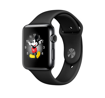 Apple Watch 2 38mm Space Black Stainless Steel Case with Black Sport Band