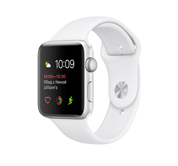 Apple Watch 2 42mm Silver Aluminum Case with White Sport Band